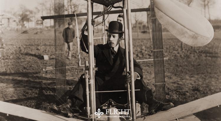 Alberto Santos-Dumont: mineiro, inventor e criador do primeiro avião capaz de levantar voo.