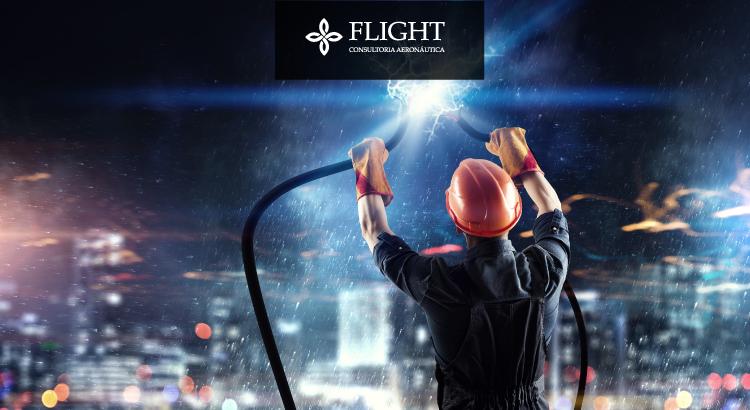 A energia elétrica é uma das alternativas para substituir o consumo de combustíveis fósseis pelas aeronaves..