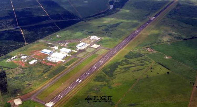 Foto de um Aeródromo Civil, o Aeródromo de Gavião Peixoto, pertencente à EMBRAER. Fonte: 36 mil pés.