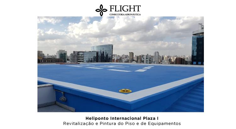 Revitalização do Heliponto Internacional Plaza I, realizada pela Flight em São Paulo/SP.