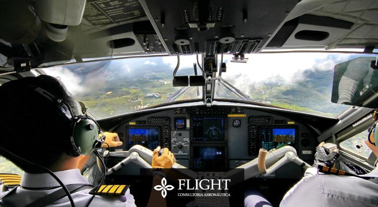 Veja a seguir como um piloto se orienta durante o voo.
