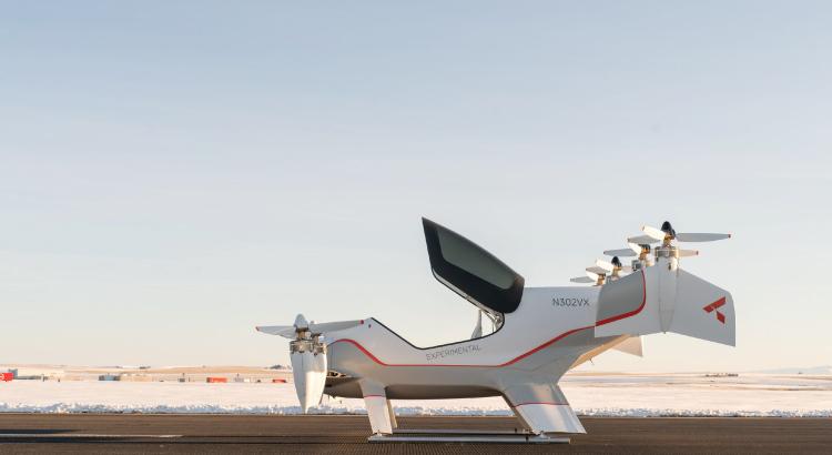 Vahana - Táxi Voador da empresa Airbus. Imagem: Boone Rodriguez.