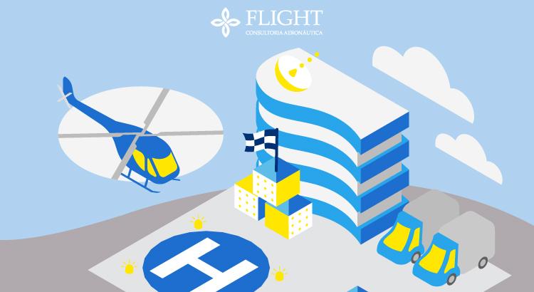 Veja a seguir os itens que compõem a sinalização da área de pouso e decolagem dos helipontos.